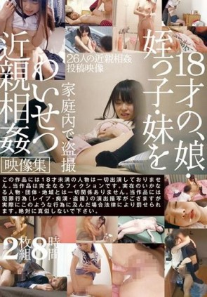 【モザ有】 娘、姪っ子、妹を家庭内で盗撮わいせつ近親相姦映像集 2枚組8時間
