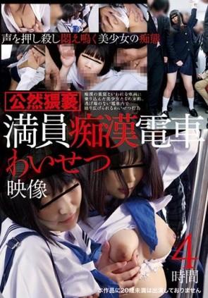 【モザ有】 満員痴漢電車わいせつ映像 4時間